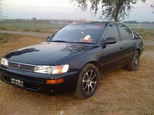 Toyota Corolla for rent in Sihanoukville, Cambodia